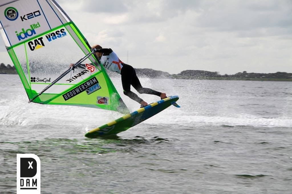 Windsurfing holland tow in